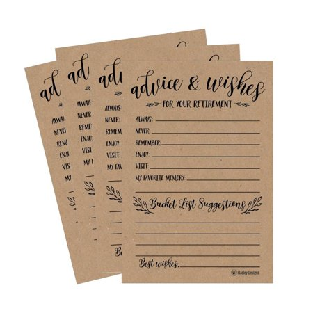 25 Rustic Retirement Party Advice Well Wish Card For Men Women Retired Ideas Supplies and Decoration Happy Retiree Celebration Gift Bucket List Wish Funny Personalized Officially Retired Centerpiece - Mustache Centerpiece Ideas