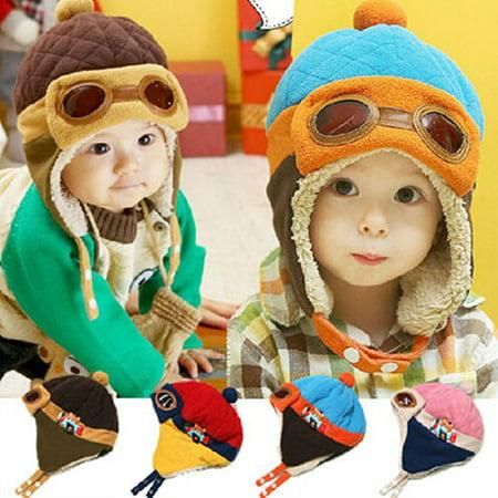 899ffa0c251 Moderna - Moderna Winter Baby Earflap Toddler Girl Boy Kids Pilot Aviator  Cap Warm Soft Beanie Hat - Walmart.com
