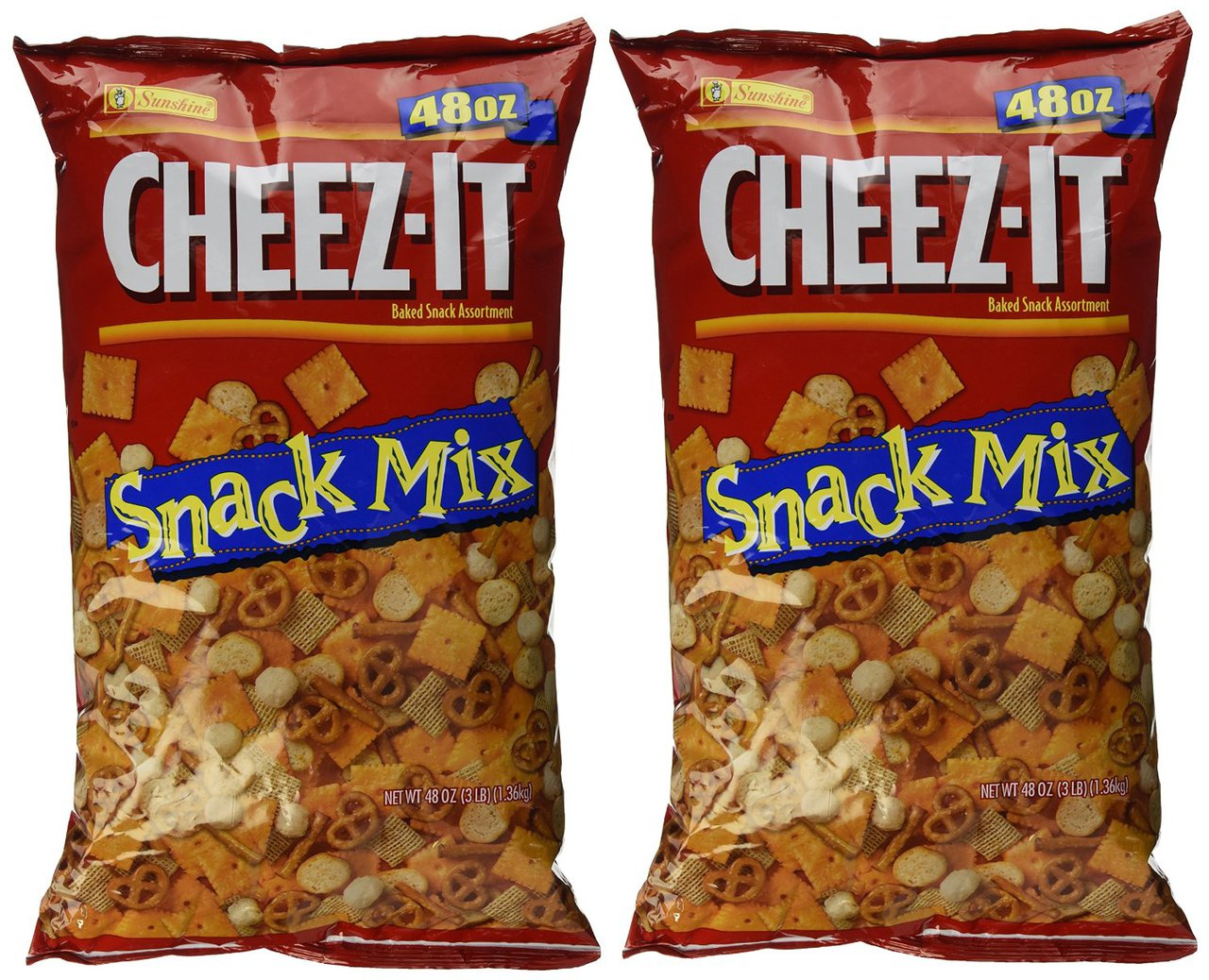 4 PACKS : Cheez-It Party Mix, 3 lb Packages by