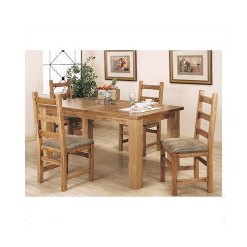 Artisan Home Furniture Lodge 100 5 Piece Leg Dining Table