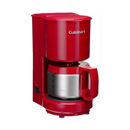 Conair Refurbished Cuisinart DCC-450R 4-Cup Coffeemaker with Stainless Steel Carafe, Red ...