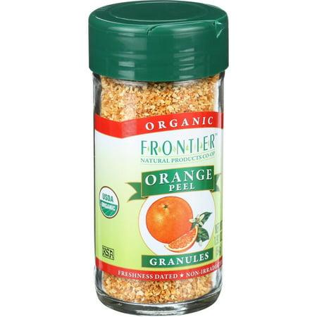 (3 Pack) Frontier Herb Organic Orange Peel Granules, 1.92 Oz Organic Orange Peel