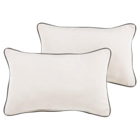 Mozaic Company Sunbrella Canvas Outdoor Corded Pillow (Corded Outdoor Pillows)