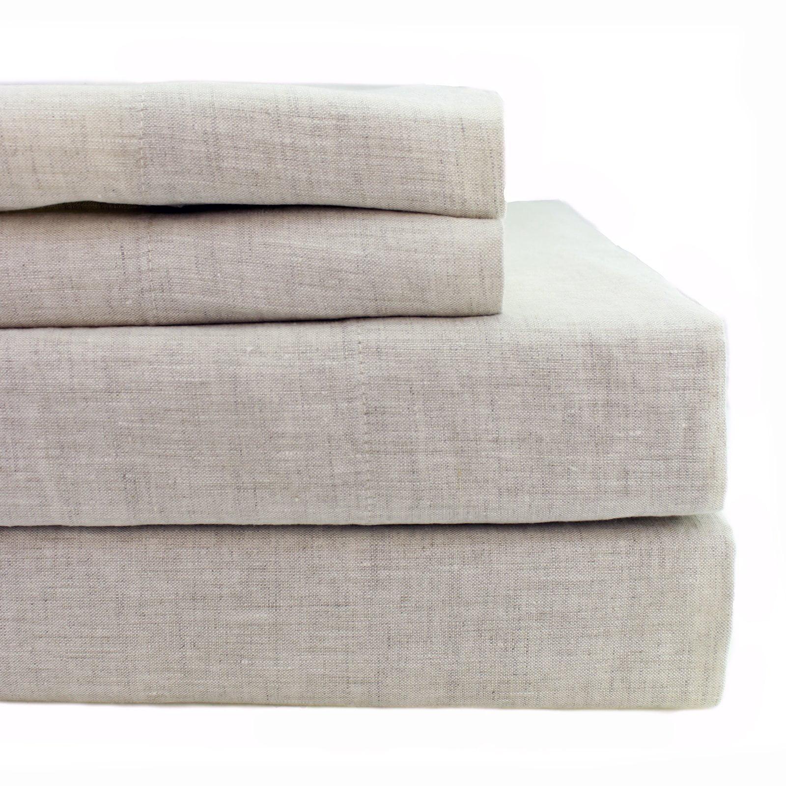 Linen Solid Sheet Set by Melange Home