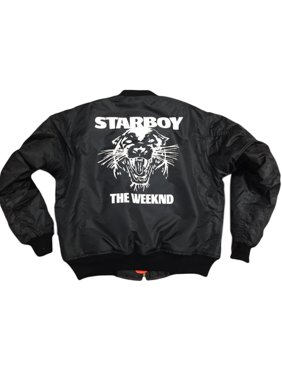ca0ee061a Product Image The Weeknd Starboy MA-1 Black Bomber jacket (White Print)