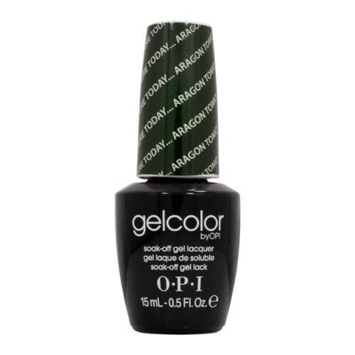 OPI 0.5oz GelColor LED Gel Nail Polish Green, HERE TODAY ... ARAGON TOMORROW, GCE48
