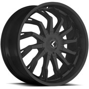 "Kraze KR142 Scrilla 26x10 5x5""/5x5.5"" +18mm Satin Black Wheel Rim 26"" Inch"