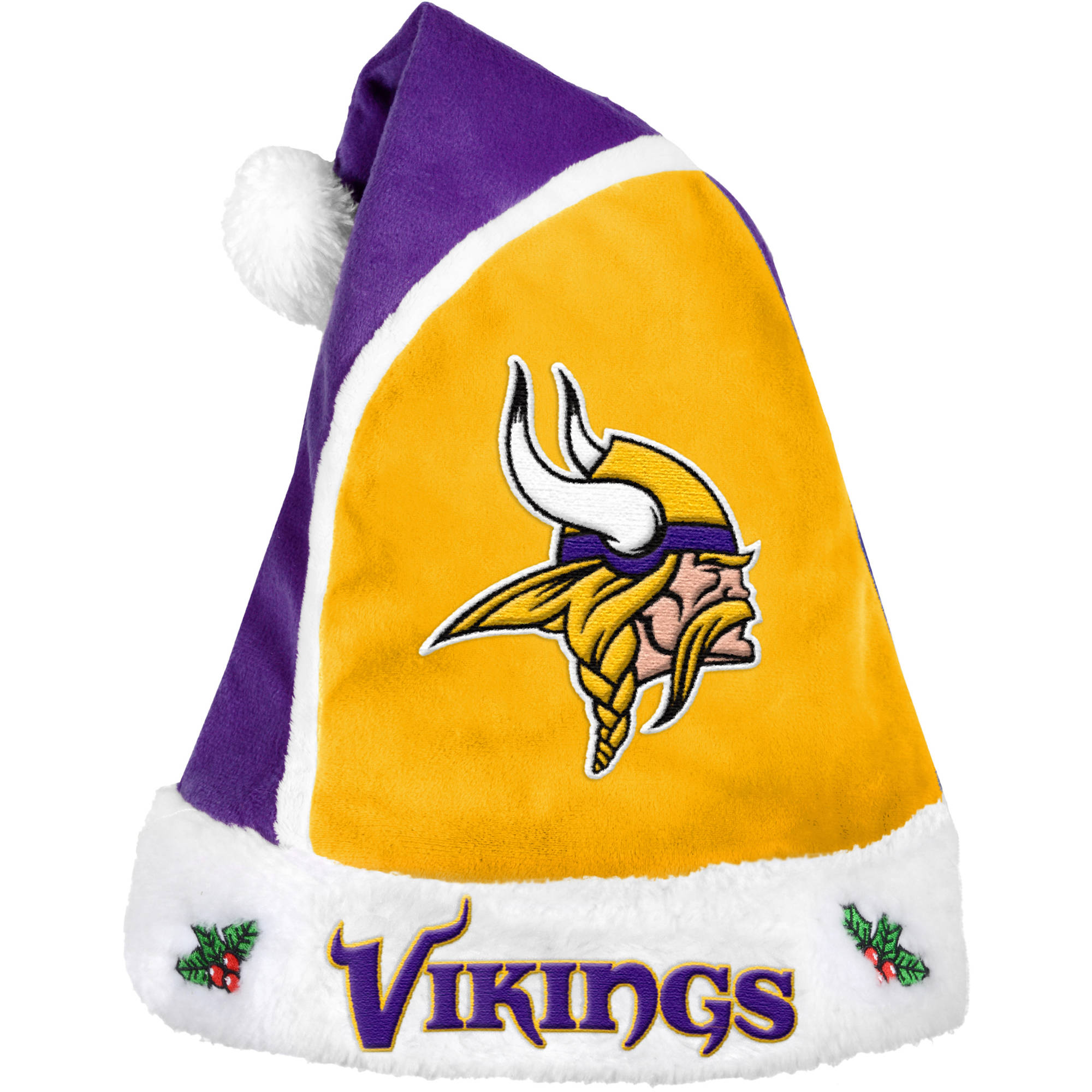 Forever Collectibles NFL 2015 Santa Hat, Minnesota Vikings