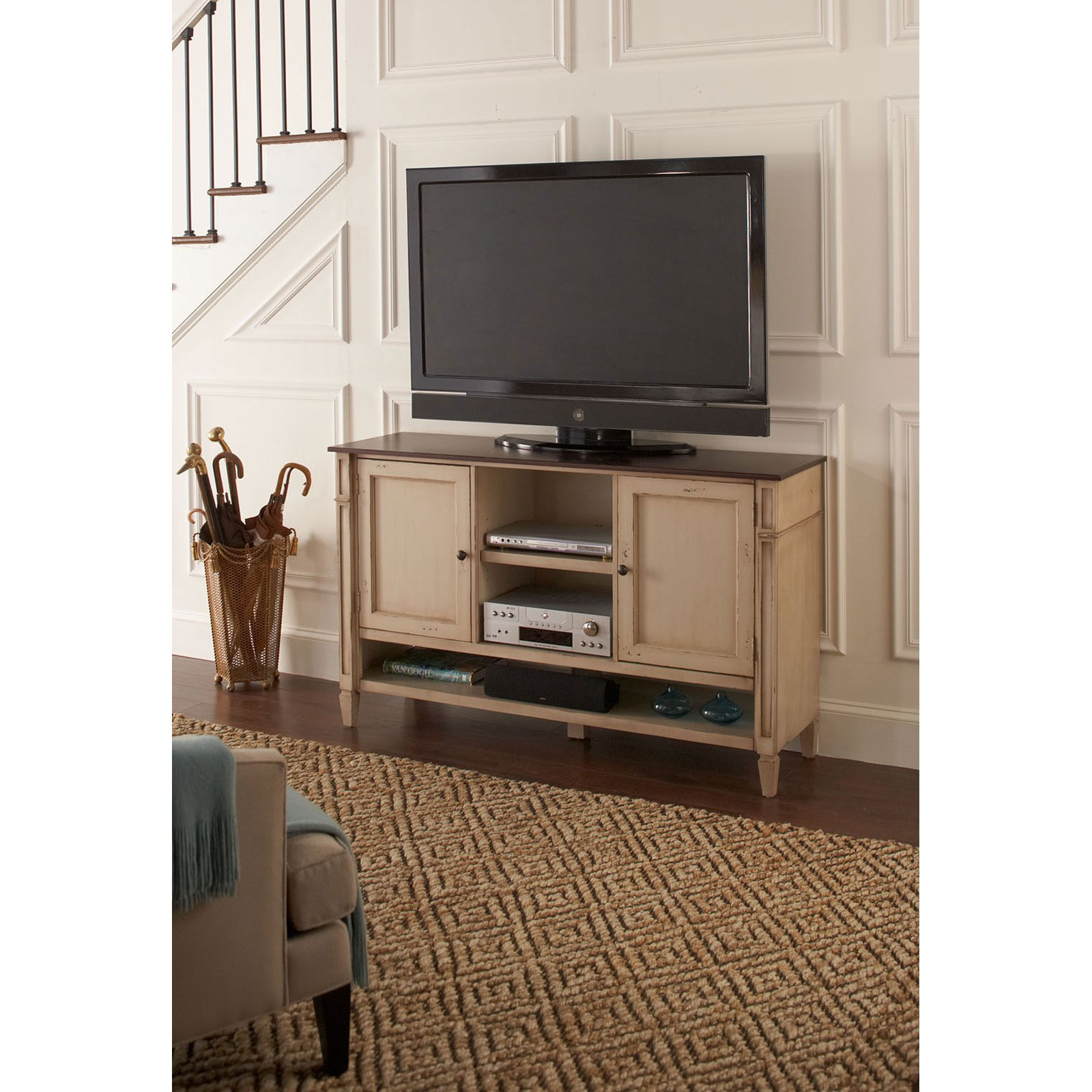 Martin Furniture Ellington Deluxe TV Console In Blue   Walmart.com