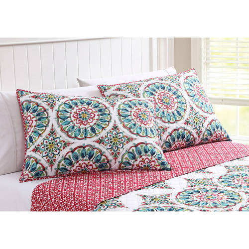 better homes and gardens watercolor medallion bedding quilt