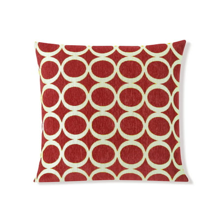 1e7824a42f Red Decorative Removable Sofa Throw Pillow Cover: 20' x 20