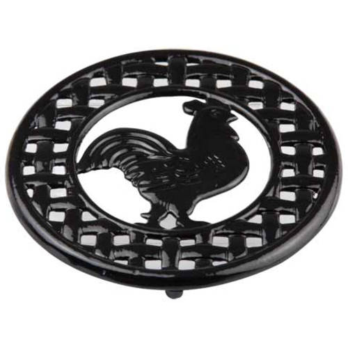 Cast Iron Rooster Trivet, Black