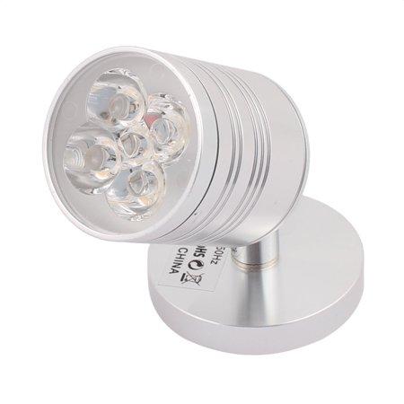 AC85-265V 5*1W 30 Degree Flexible Purple  Spotlight Wall Light Silver - Purple Spotlight
