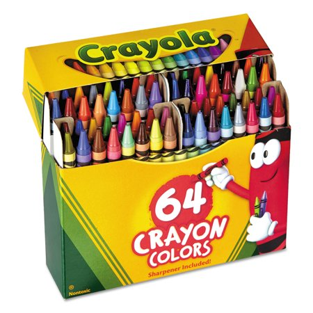 (2 Pack) Crayola 64 count crayons with built-in sharpener - 64 Crayola Crayons