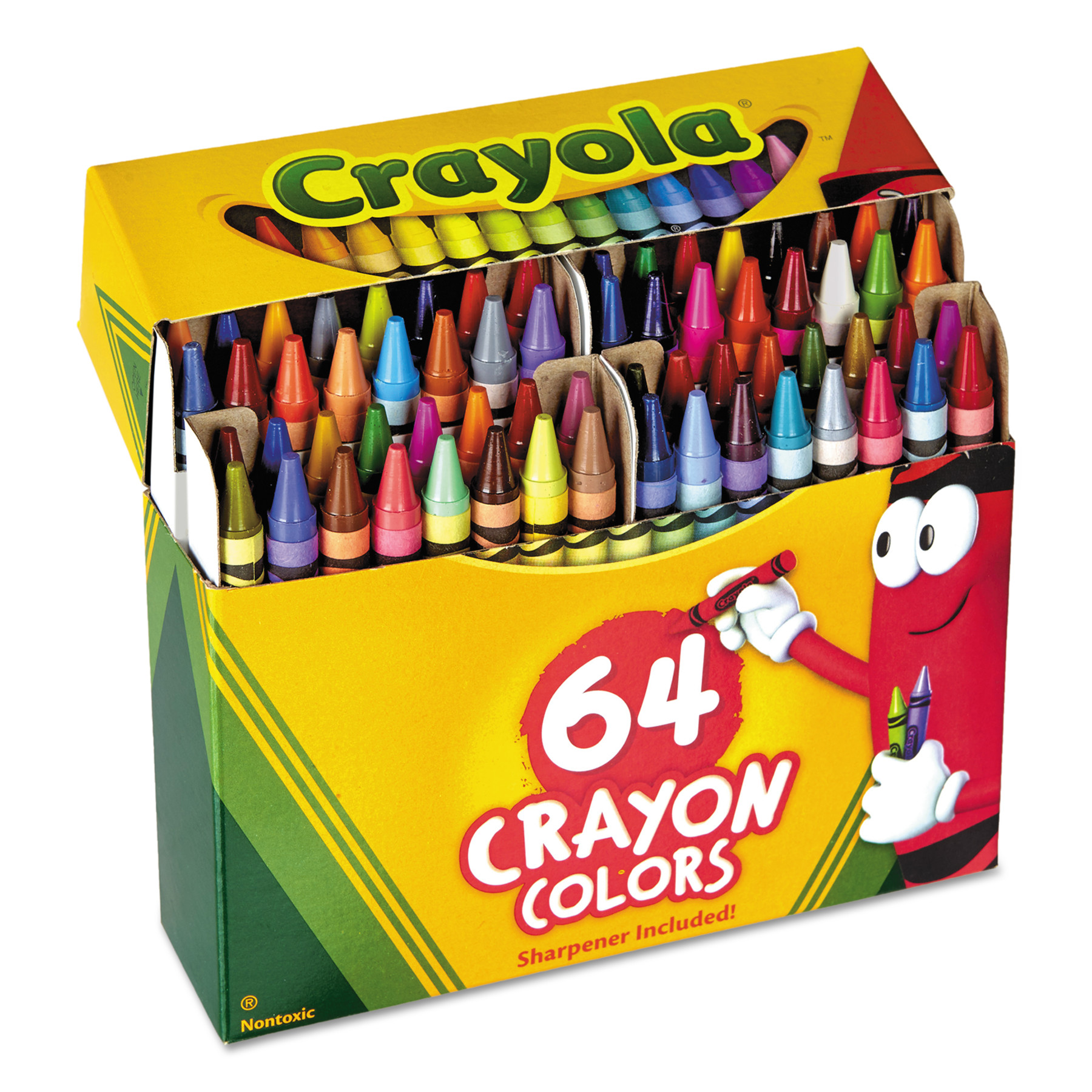 Crayola 64 Count Crayons with Built-in Sharpener