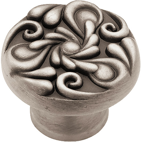 Brainerd 35mm Paisley Knob, Brushed Satin Pewter