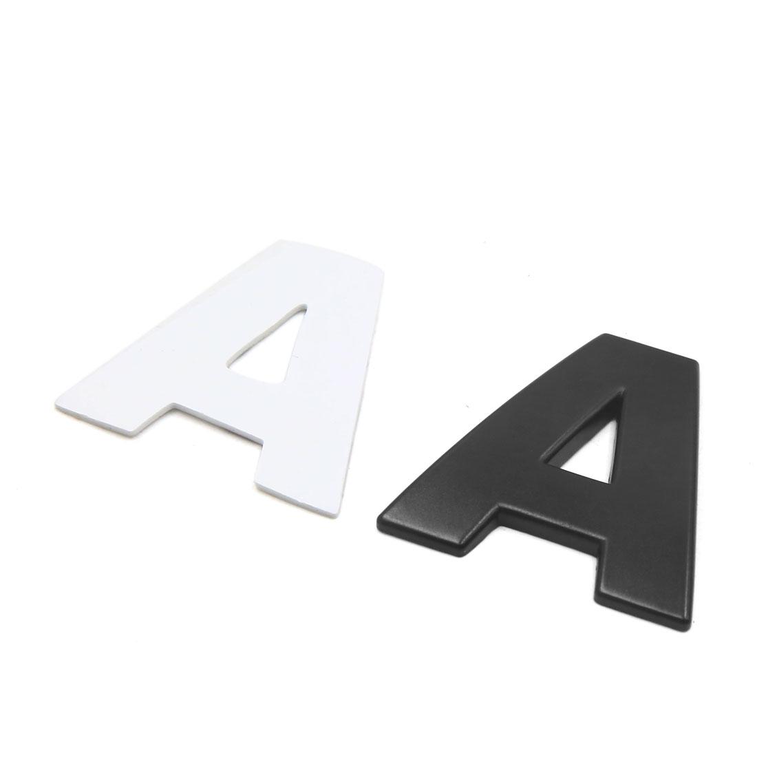 3D Metal A Letter Shaped Alphabet Sticker Car Auto Emblem Badge Decal Black - image 2 de 2