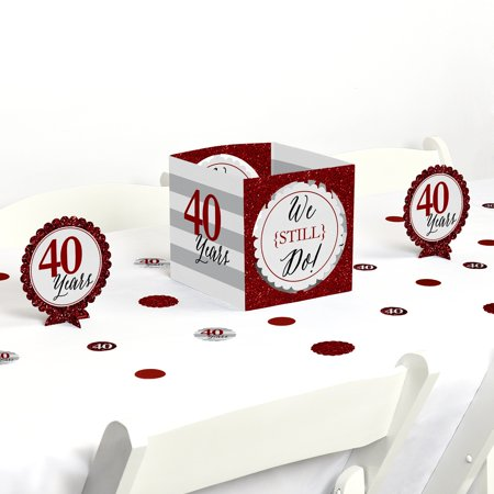We Still Do - 40th Wedding Anniversary - Party Centerpiece & Table Decoration Kit