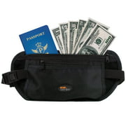 Miami CarryOn Travel Security Waist Money Belt / Passport Belt (2 Pack)