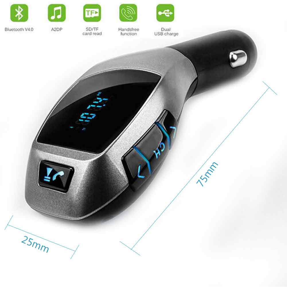 Universal FM Transmitter support Bluetooth hands-free MP3/WMA Wireless Car Kit Radio Receiver for iPhone 7 6S/Samsung Galaxy S7 S6/MP3 player