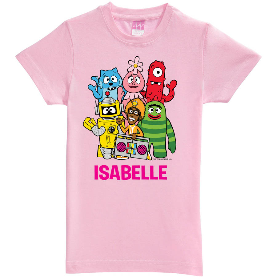 Personalized Yo Gabba Gabba Group Girls' Fitted Tee, Pink