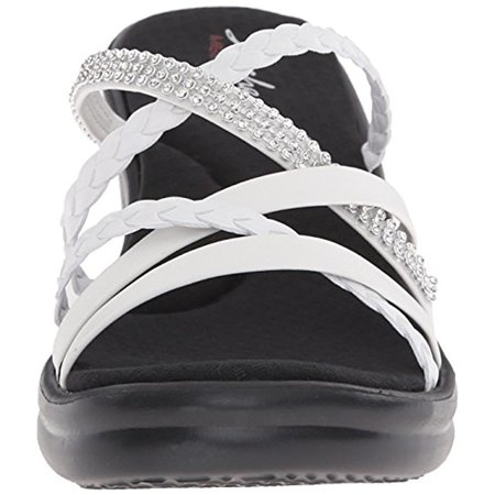 Skechers 38566WHT Women'S RUMBLERS WILD CHILD Casual Shoes