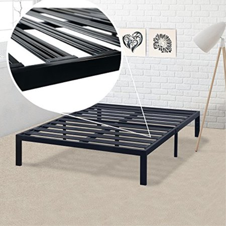 Best Price Mattress Queen Bed Frame - 14 Inch Metal Platform Beds [Model E] w/ Steel Slat Support (No Box Spring Needed), (Best Model Home Designs)