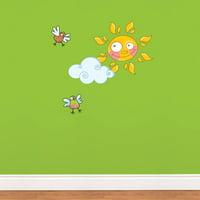 Sun Wall Decal Sticker Wall Decal Sticker - 30.5x21.5