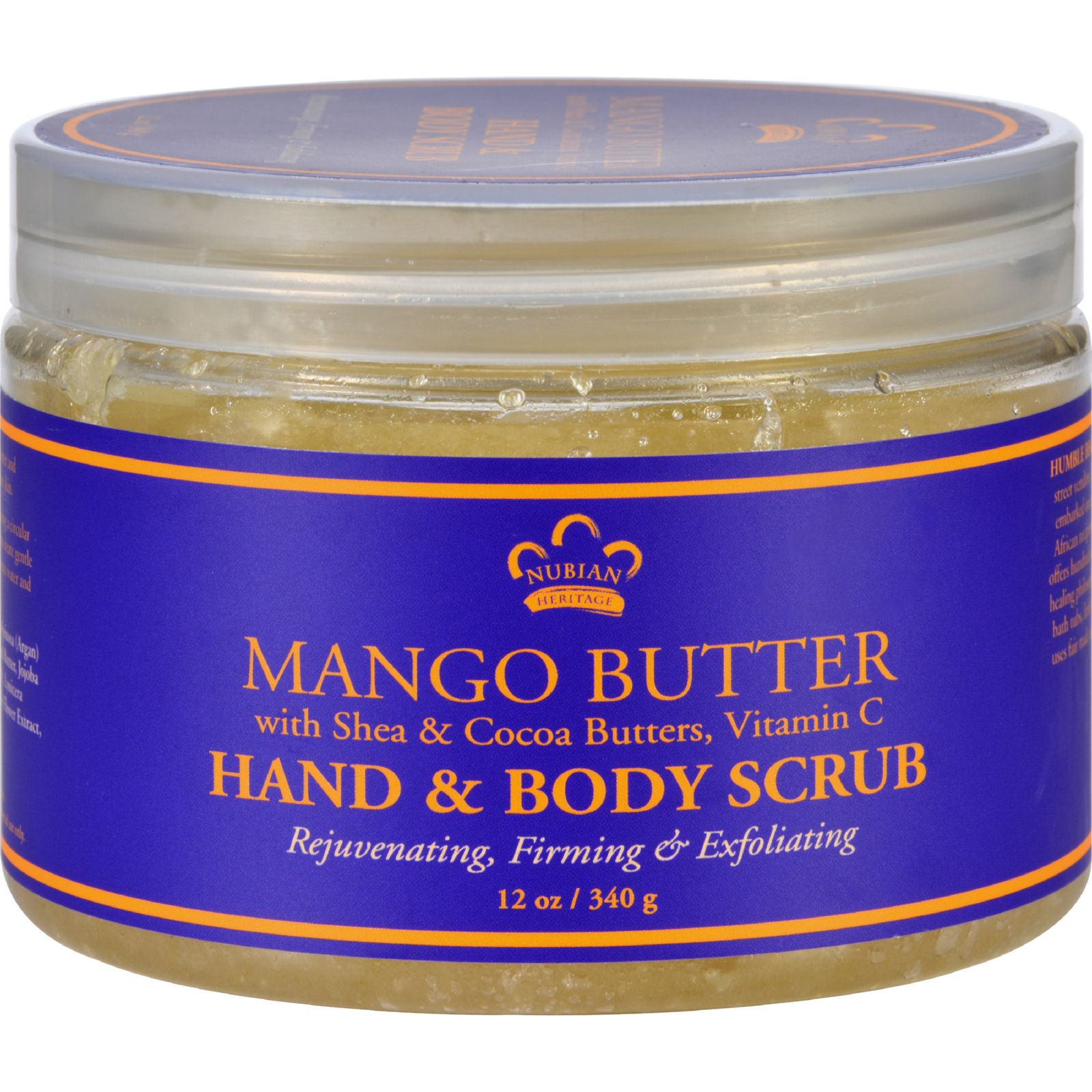 Nubian Heritage Hand and Body Scrub - Mango Butter - 12 oz