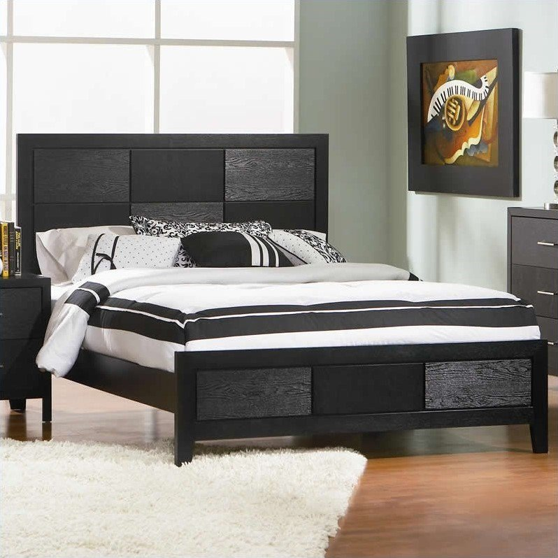 Coaster Company Grove Collection Queen Bed, Black (Box 1 of 2)