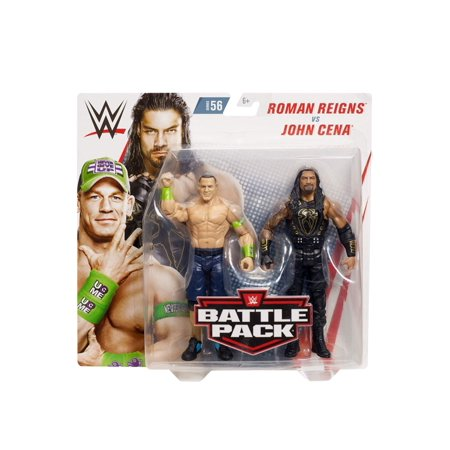 WWE John Cena vs Roman Reigns Battle Pack (Wwe Championship John Cena Vs The Rock)