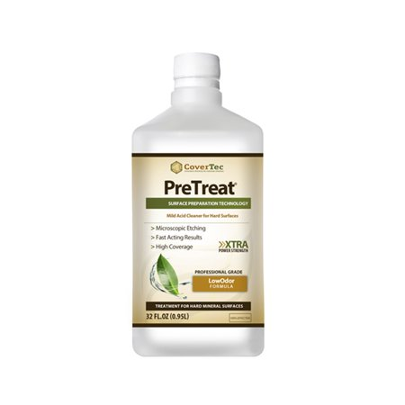 PreTreat Floor Acid Cleaner and Etching Treatment for Ceramic Tiles, Concrete (1 QRT - Prof