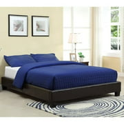 Modus Furniture Upholstered Platform Bed in Chocolate-California King