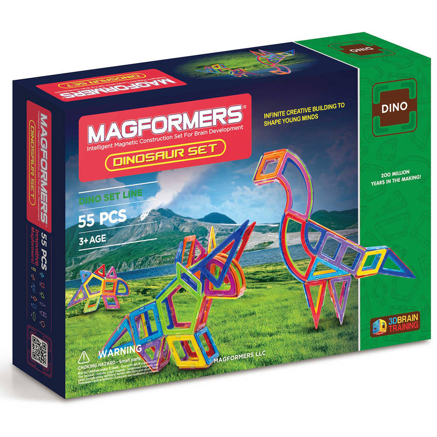 Magformers Dinosaur 55-Piece Magnetic Construction Set
