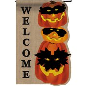 Evergreen Enterprises, Inc Jack-o-Lantern Gathering Garden Flag