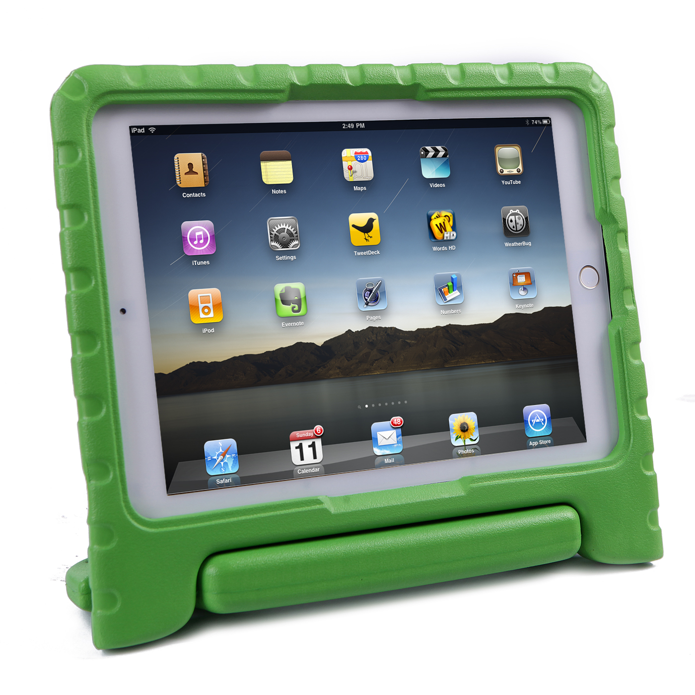 iPad Pro 9.7 Case for Kids - HDE Shockproof Cover [Corner Protection] Heavy Duty Protector Handle [Grip] Stand for iPad Pro 9.7-inch (Green)
