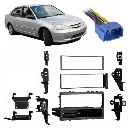 2005 Civic Special Edition - Fits Honda Civic Special Edition 2005 Single DIN Harness Radio Dash Kit