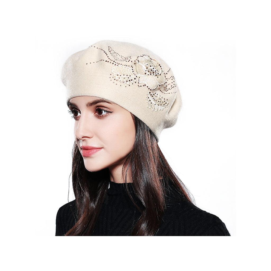 118731f5d2f zdstore - Women Beret Cotton Wool Fashion Winter Hats For Women Caps Relaxed  Fit Cap - Walmart.com