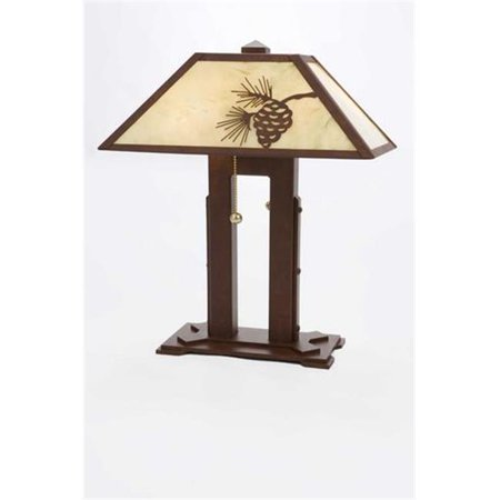 Steel Partners Lighting 750 Double Desk Lamp Mission 60 Wattage  Rust Finish Bungalow Green