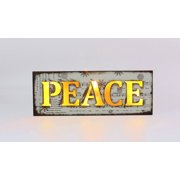 "Box Sign-PEACE-LED (13"" x 4"")"