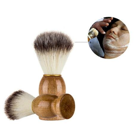 Men Shaving Bear Brush Best Badger Hair Shave Wood Handle Razor Barber