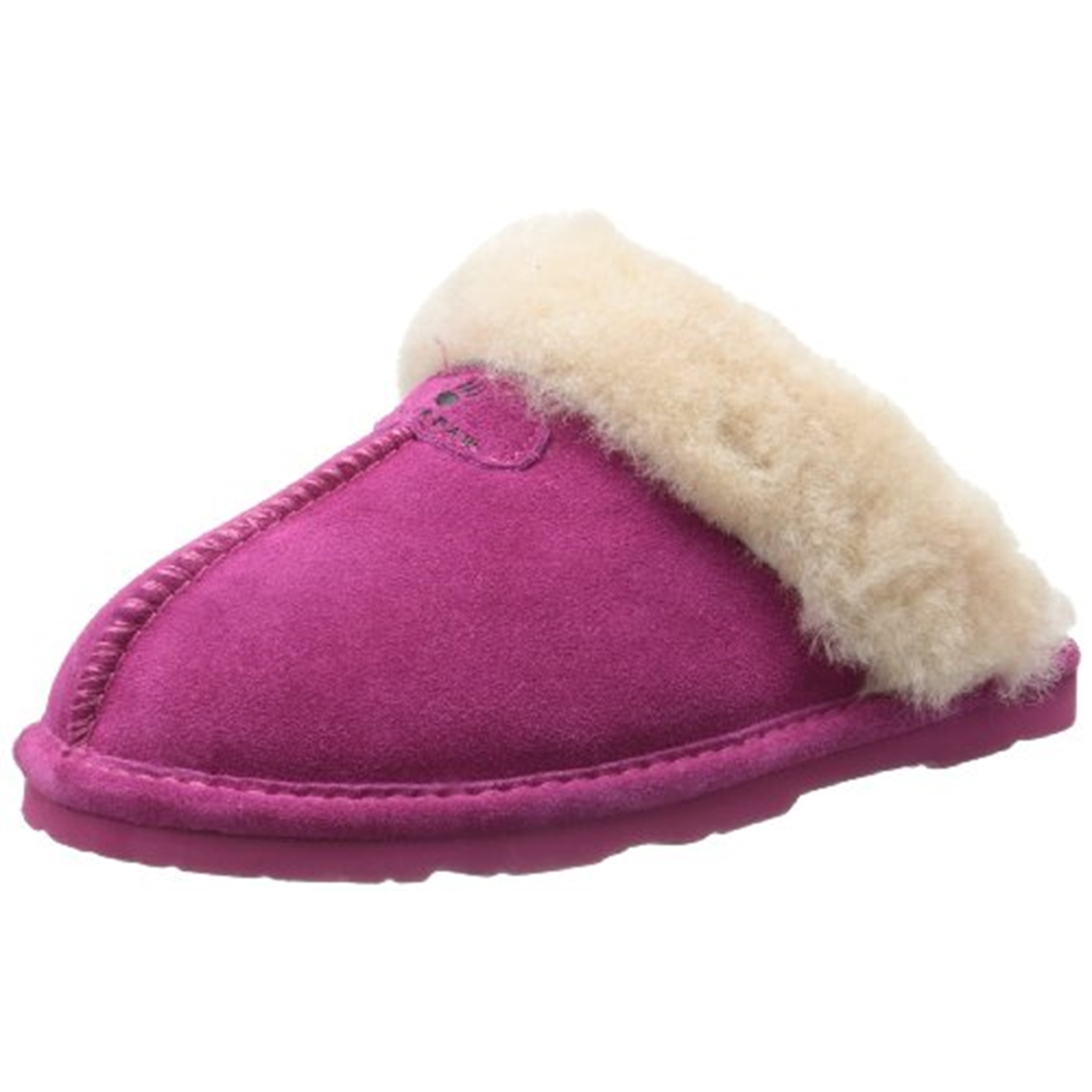 Bearpaw Women's Loki Pom Berry Low Top Sheepskin Slipper - 6M