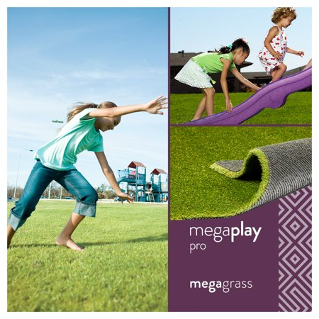 MegaGrass MegaPlay Pro 20 x 59 in Artificial Grass for Pet Kids Playground and Parks Indoor/Outdoor Area