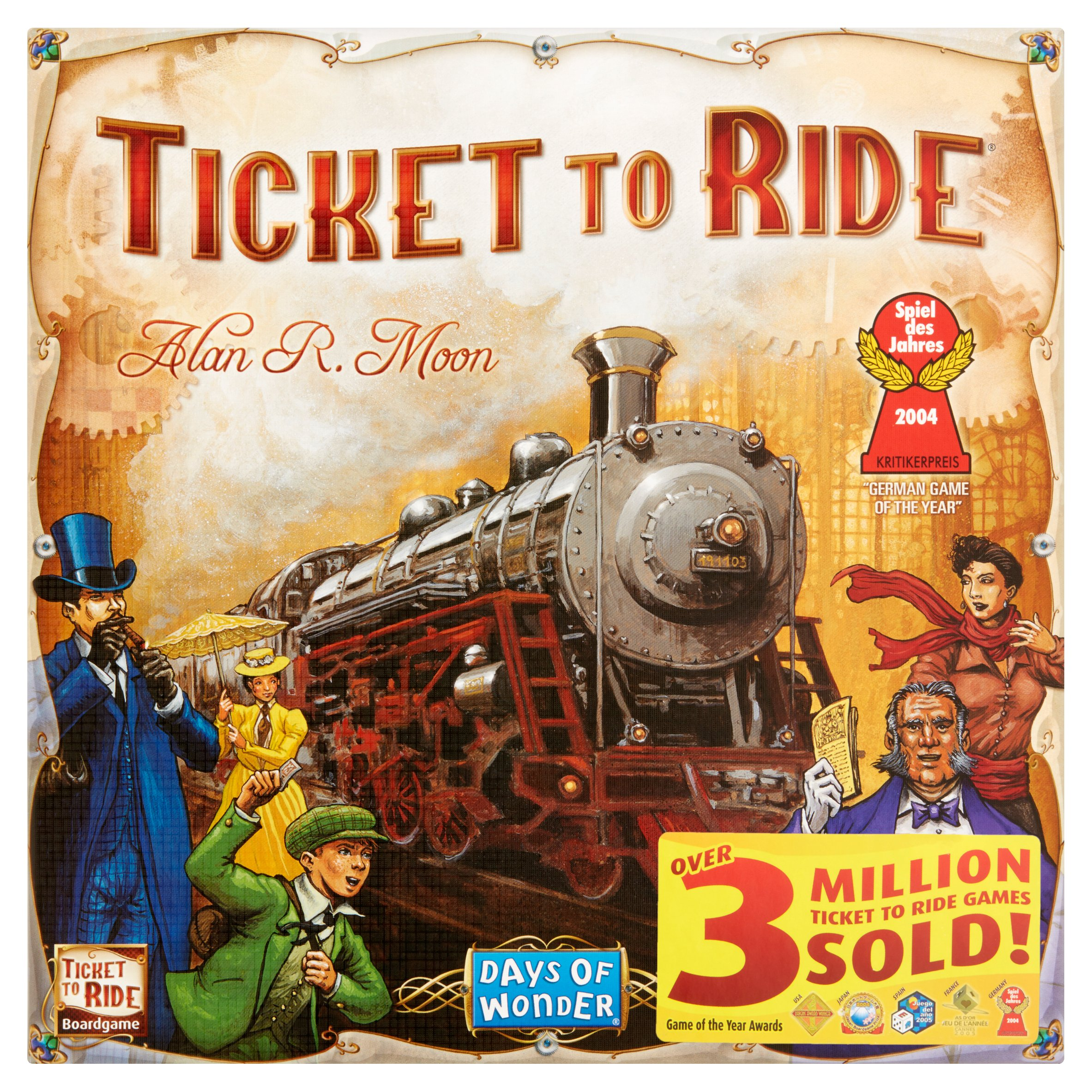 Days Of Wonder Ticket to Ride Boardgame 8+