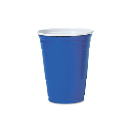 SOLO Cup Company Plastic Cold Drink Cups, Blue, 16 oz, 20 Bags of 50 Cups Each, 1000 Cups Total - Solo Cup Lights