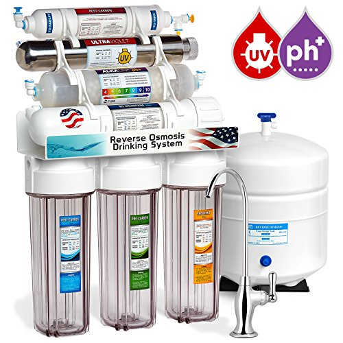 Express Water 11 Stage UV Ultraviolet + Alkaline + Reverse Osmosis Home  Drinking Water Filtration System