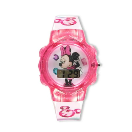 Disney Minnie Mouse Flashing LCD Watch