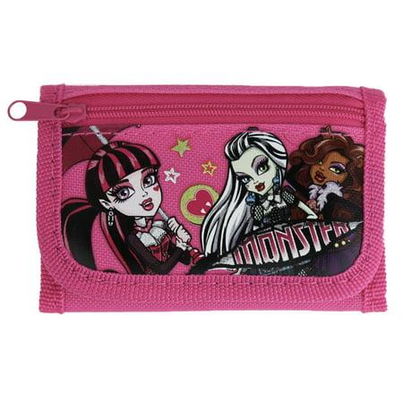 Officially licensed Mattel Monster High Tri-Fold Wallet - Pink Monster High