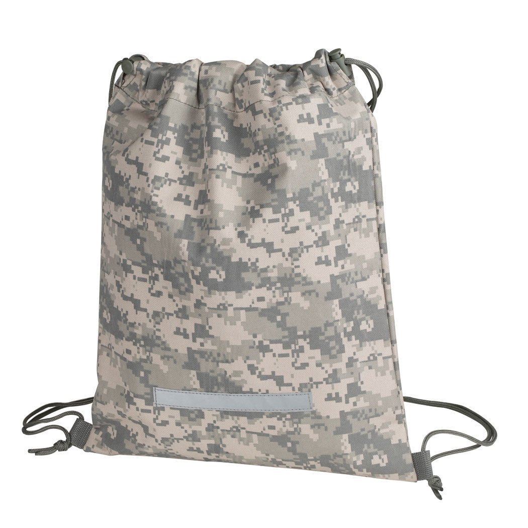 ImpecGear Heavy Duty Drawstring Backpack Digital Camouflage Army Navy Military Camping, Hiking Bag, Drawstring Gym Bag, Men Women's Backpacks, Women's Bags.