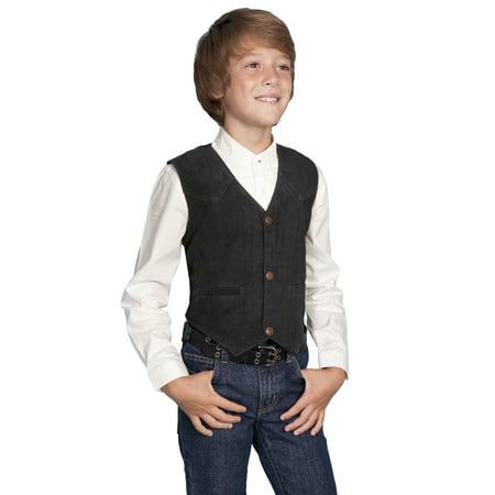 scully western vest boys kids boar suede snap front black 2002-19](Vest Western)